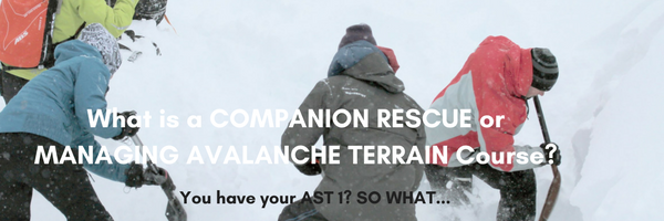 companion rescue, managing avalanche terrain, avalanche training, avalanche safety
